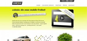 Carsharing mit Taxis: der Dienst Colexio startet am Münchner Flughafen.