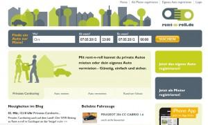 Rent-n-Roll: Carsharing 2.0 bzw. privates Carsharing von einem frischen Anbieter.