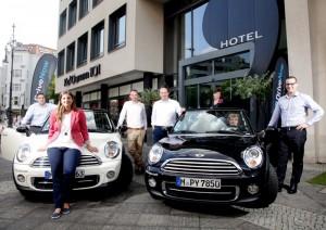 Carsharing in Berlin: DriveNow arbeitet fortan mit dem Hotel Ku'Damm 101 zusammen.