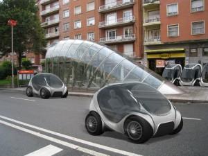 Kleines Elektroauto für das Carsharing. Der innovative Hiriko Fold wird 2013 auf den Markt kommen.