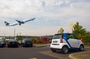 Carsharing am Düsseldorfer Flughafen: Car2Go erweitert sein Angebot.