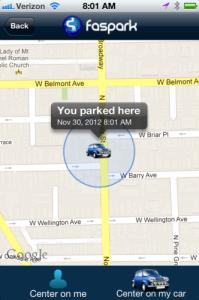 Faspark präsentiert eine neue Parkplatz-App für das iPhone. Derzeit wird in Chicago und München nach freien Parkmöglichkeiten gesucht.