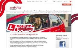 Der Schweizer Anbieter Mobility bietet ab sofort auch Carsharing für Fahrschüler. Zu besonderen Konditionen.