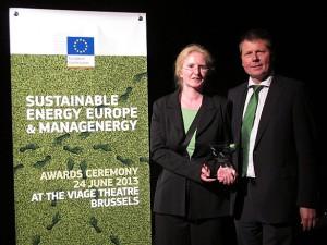 """Preisgekrönt: der Bremer Carsharing Aktionsplan wurde von der EU mit einem """"European Sustainable Energy Award"""" im Bereich Verkehr ausgezeichnet."""