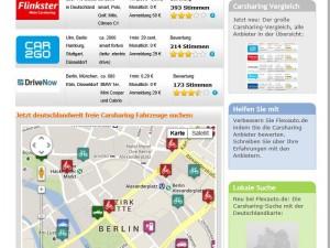 Neues Internetportal für das Carsharing: bei Flexauto lassen sich verschiedenen Angebote vergleichen und buchen.