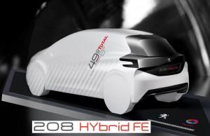 Sparsam und spurtschnell: der Peugeot 208 Hybrid FE präsentiert sich zukunftsweisend.