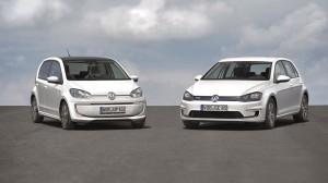 Gestatten, Volkswagen E-Up und E-Golf. Der Wolfsburger Konzern macht das Elektroauto zur IAA 2013 noch ein wenig sparsamer.
