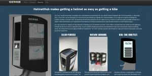 Praktisch für das Bikesharing: HelmetHub ist ein Automat, in dem sich Fahrradhelme ausleihen lassen.