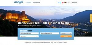 GoEuro ist ein neues Internetportal in der Betaversion und widmet sich unterschiedlichen Formen der Mobilität.