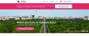 Carsharing in Berlin geht neuerdings auch mit dem französischen Anbieter drivy.
