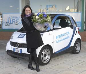 Nummer eins im Carsharing: Car2Go feiert die einmillionste Kundin.
