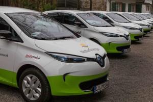 Flotte im Aufbau: my-e-car setzt in Lörrach auf das Elektroauto Renault Zoe.