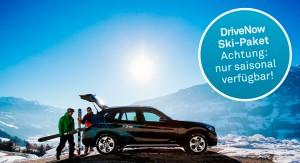 Carsharing trifft Wintersport: DriveNow bietet ein spezielles Angebot für Skifahrer.