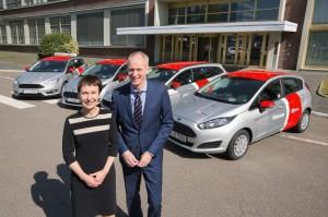 Umfangreiche Carsharing -Kooperation: gleich 262 Fahrzeuge von Ford werden künftig die Flotte von Flinkster ergänzen.